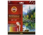 Koh-i-Noor Mondeluz Art 36, akvarellitavad pliiatsid, 36 värvi