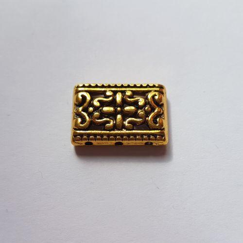 3 realine detail, 12x18mm, kuldne, 1 tk