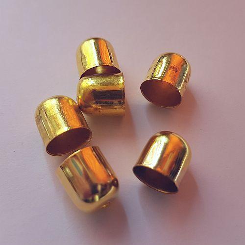 Koonus, 10x10mm, kuldne, 6 tk