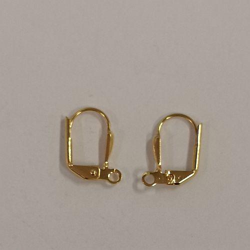 Kinnine kõrvarõngakonks, 11x14mm, kuldsed, 2 tk