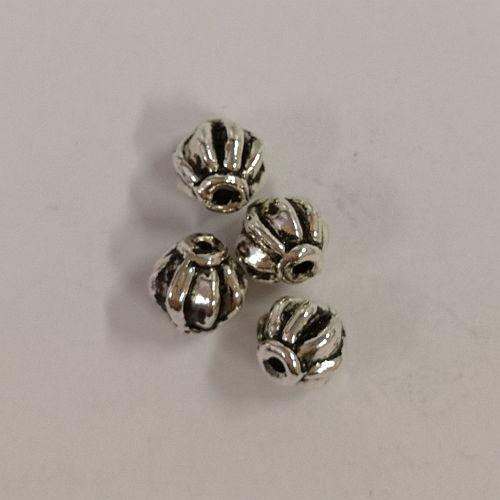 Metallhelmed, 6mm, antiikhõbedased, 4 tk