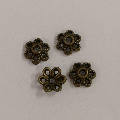 Pärlikapsel, 6mm, pronksne, 4 tk