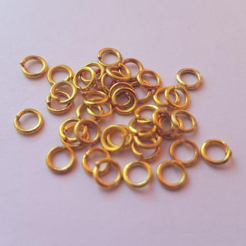 Rõngad, 4mm, kuldsed, 50 tk