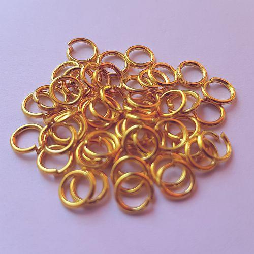 Rõngad, 5mm, kuldsed, 50 tk