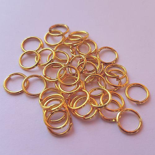 Rõngad, 6mm, kuldsed, 30 tk