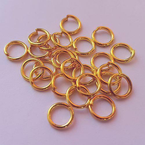 Rõngad, 7mm, kuldsed, 20 tk