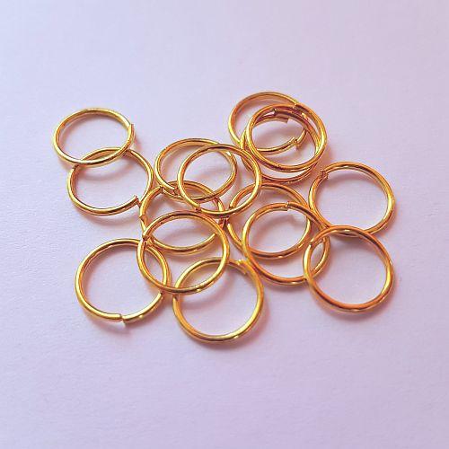Rõngad 8mm, kuldsed, 15 tk