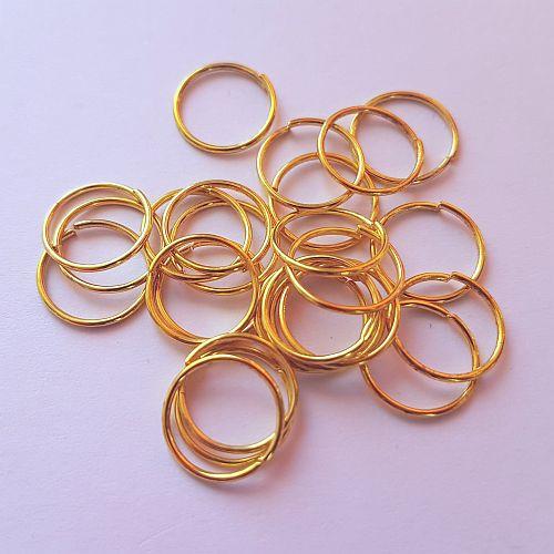 Rõngad, 10mm, kuldsed, 20 tk