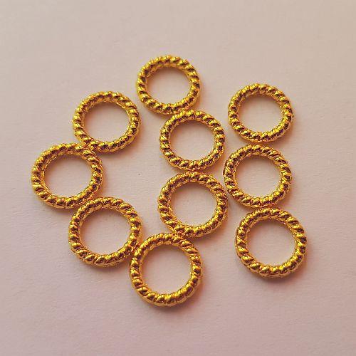 Ilurõngad, 8mm, kuldsed, 10 tk
