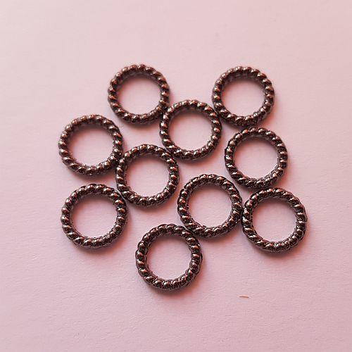 Ilurõngad, 8mm, läike must, 10 tk