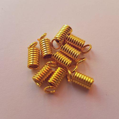 Spiraal paelaotsik, 7mm, kuldne, 10 tk