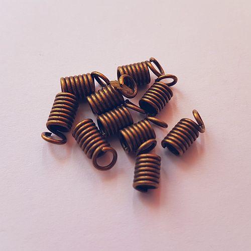Spiraal pealaotsik, 7mm, pronksjas, 10 tk