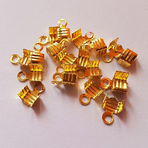 Paelaotsik, 6mm, kuldne, 20 tk