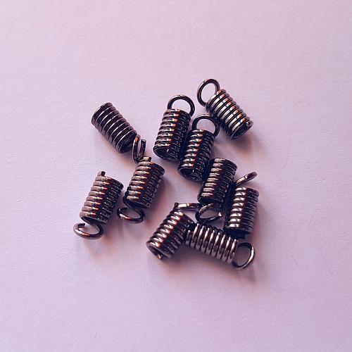 Spiraal paelaotsik, 7mm, läike must, 10 tk