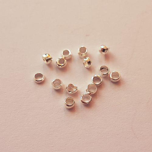 Pärlipidur, 2mm, hõbedane, 15 tk