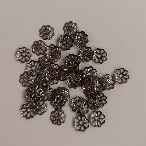 Pärlikaplsel Lihtne, 6mm, must läike, 50 tk