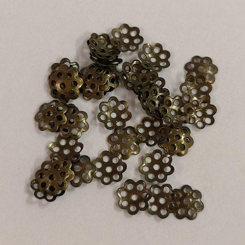 Pärlikapsel Lihtne, 6mm, pronksne, 50 tk