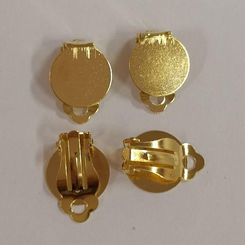 Klapp kõrvarõngad, 15mm, kuldsed, 4 tk