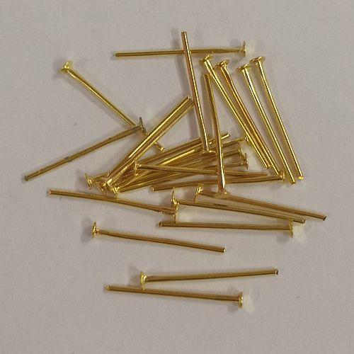 Ehtenõelad peaga, 15mm, kuldsed, 25 tk