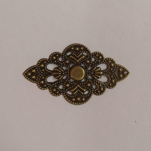 Metallist ornament, 30x52mm, pronksne, 1 tk