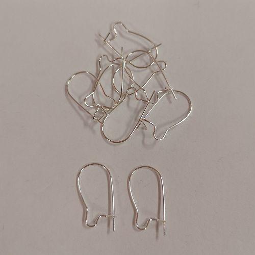 Kõrvarõnga haak, 7x15mm, hõbedased, 10 tk