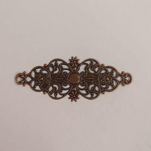 Metallist ornament, 24x61mm, pronksne, 1 tk