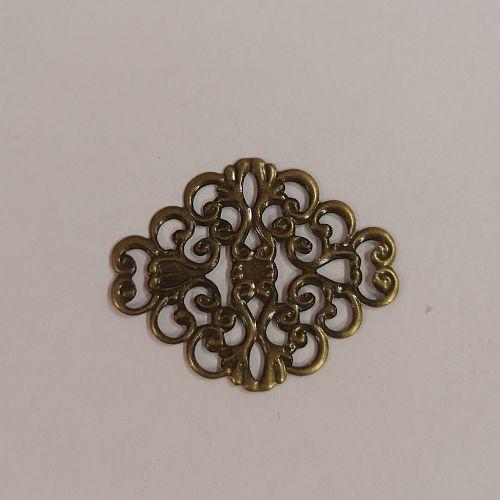 Metallist ornament, 30x37mm, pronksne, 1 tk