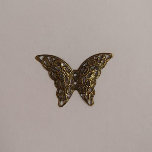 Metallist liblikas, 29x41mm, pronksne, 1 tk