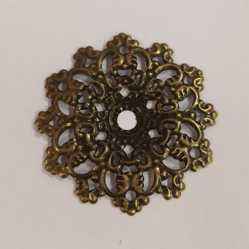Metallist lill, 45mm, pronkene, 1 tk