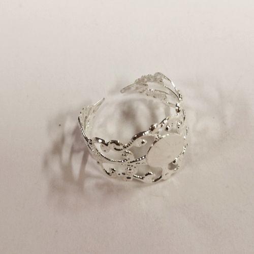 Sõrmuse toorik Pitsiline, 20mm, hõbedane, 1 tk