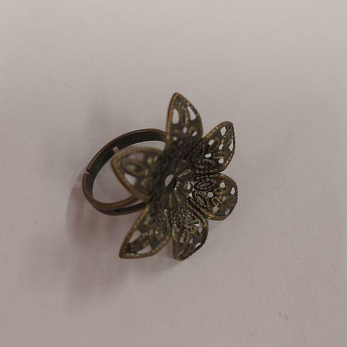 Sõrmusetoorik Lill, 30mm, pronksne, 1 tk