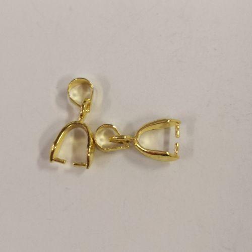 Kristalli riputusaas, 7x15mm, kuldsed, 2 tk