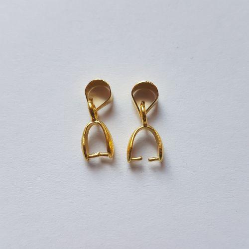Kristalli riputusaas, 5x13mm, kuldsed, 2 tk