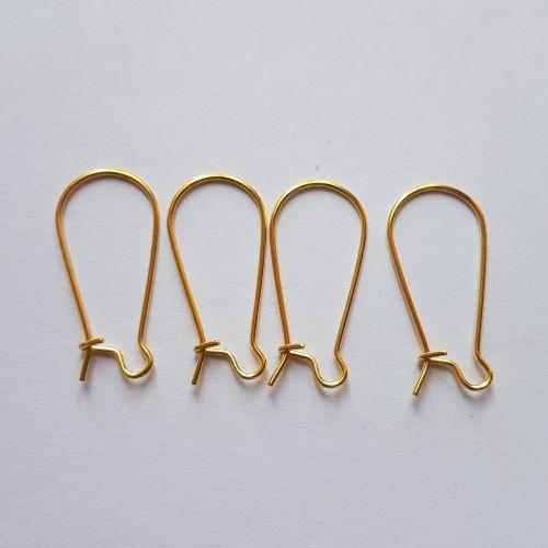 Kõrvarõngakonksud 11x24mm, kuldsed, 4 tk