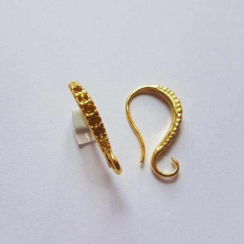 Kõrvarõngakonks kristallile, 15x25mm, kuldne, 2 tk