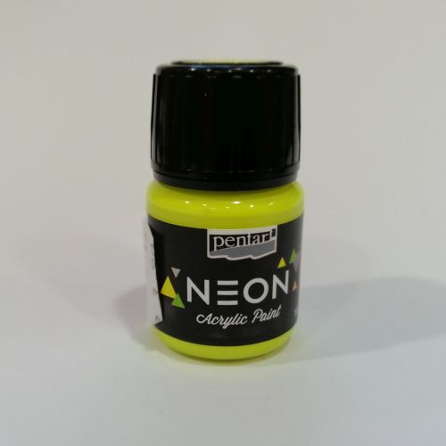 Pentart neoon akrüülvärv, neoonkollane, 30ml