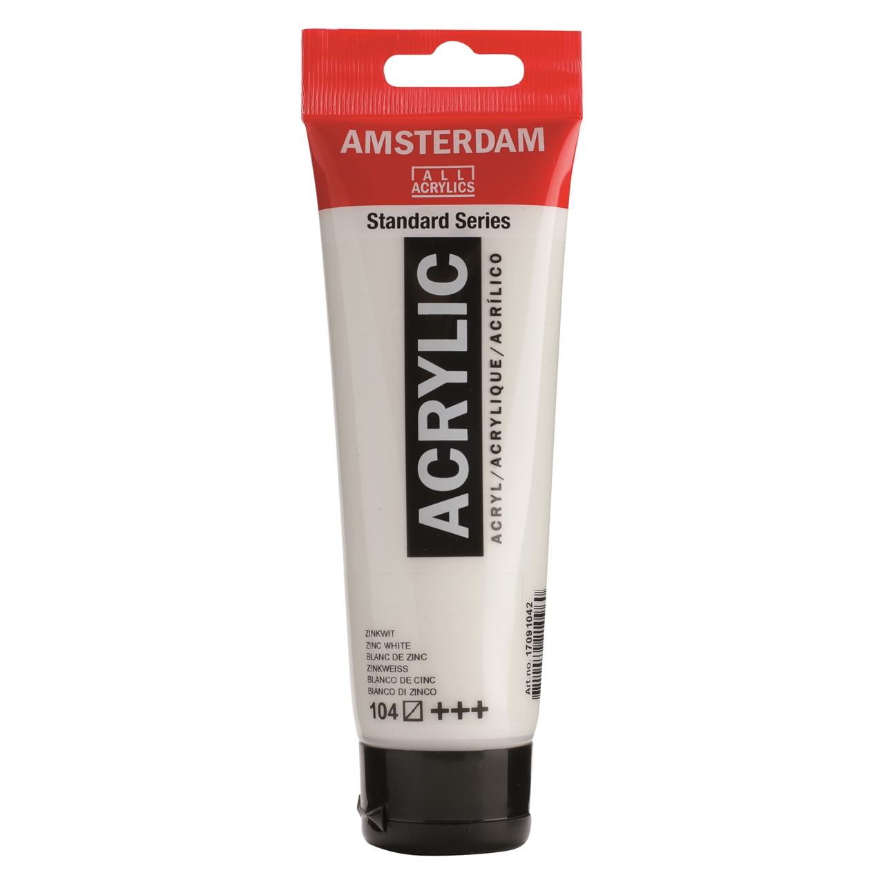 Akrüülvärv Amsterdam 120ml, 104 zinc white