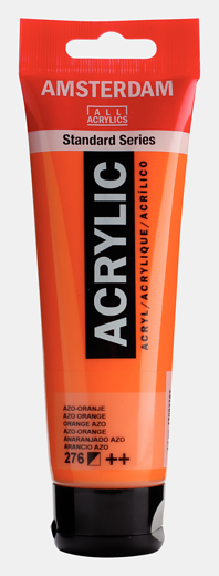 Akrüülvärv Amsterdam 120ml, 276 azo orange oranz