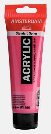 Akrüülvärv Amsterdam 120ml, 366 quinacridone rose roosa