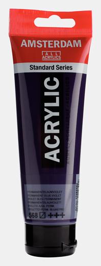 Akrüülvärv Amsterdam 120ml, 568 permanent blue violet tumelilla