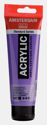 Akrüülvärv Amsterdam 120ml, 507 ultramarine violet lilla