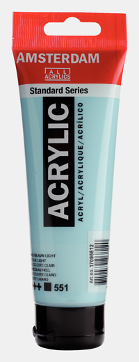 Akrüülvärv Amsterdam 120ml, 551 sky blue light helesinine