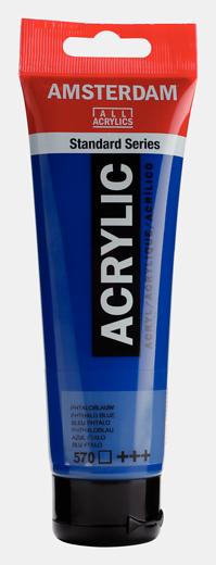 Akrüülvärv Amsterdam 120ml, 570 phthalo blue sinine