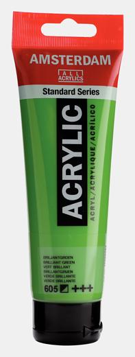 Akrüülvärv Amsterdam 120ml, 605 brilliant green roheline