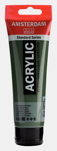 Akrüülvärv Amsterdam 120ml, 622 olive green deep tume oliiviroheline