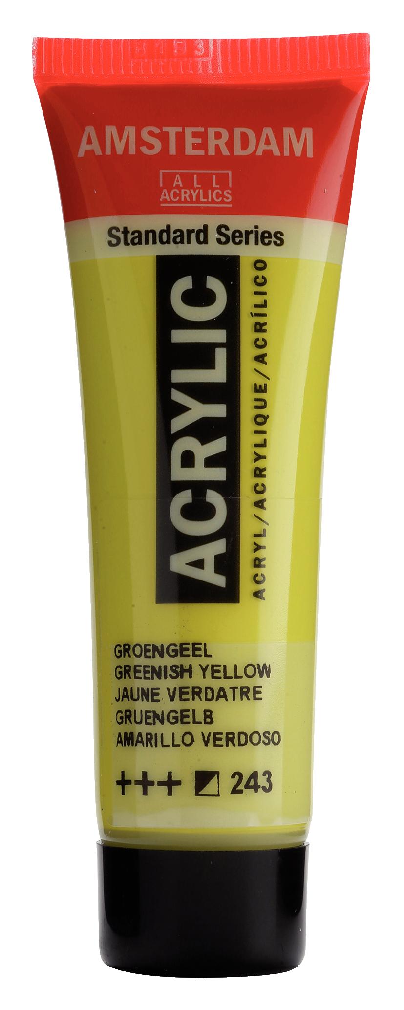 Akrüülvärv Amsterdam 20ml, 243 greenish yellow