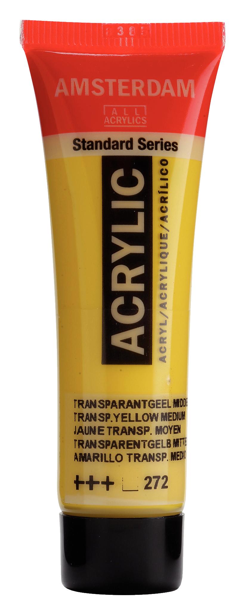 Akrüülvärv Amsterdam 20ml, 272 transparent yellow medium