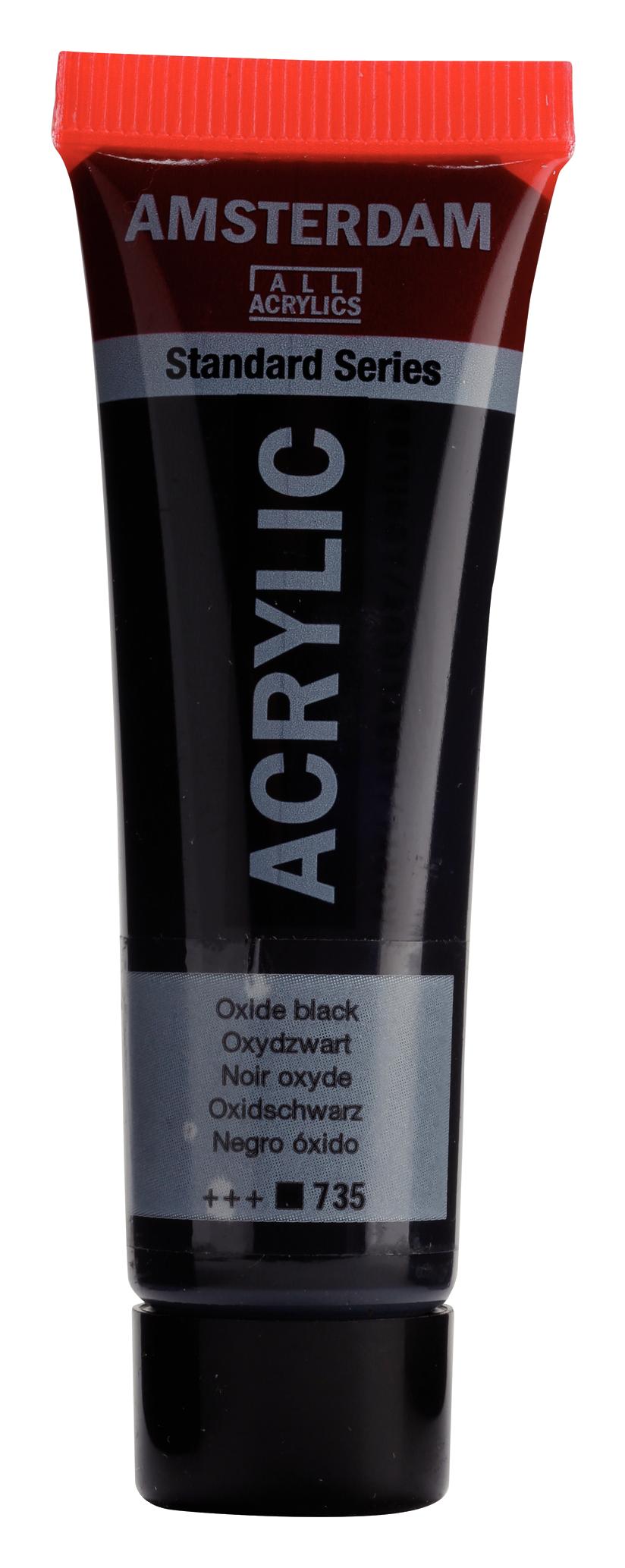 Akrüülvärv Amsterdam 20ml, 735 oxide black