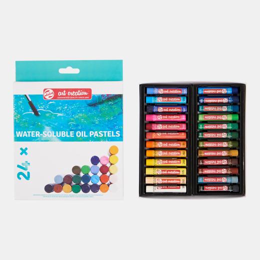 Art Creation vees lahustuvad õlipastellid 24 värvi