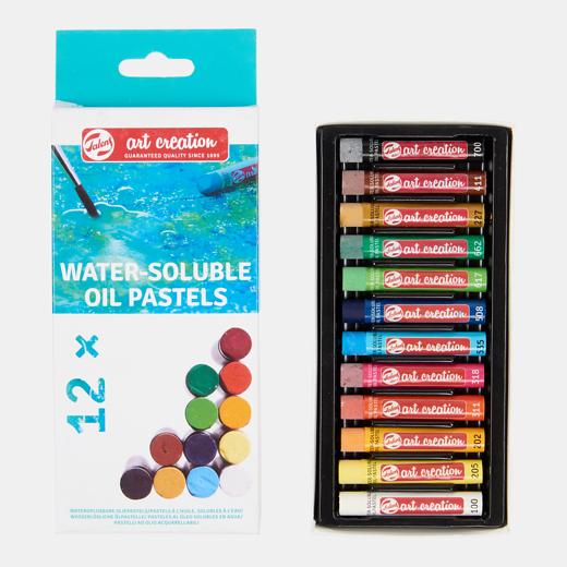 Art Creation vees lahustuvad õlipastellid 12 värvi